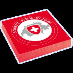 CH-Servietten mit Wappen